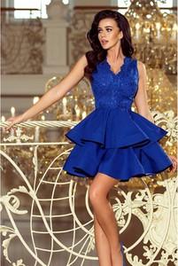 Sukienka NUMOCO bez rękawów z dekoltem w kształcie litery v mini