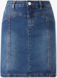 Niebieska spódnica YESSICA mini z bawełny