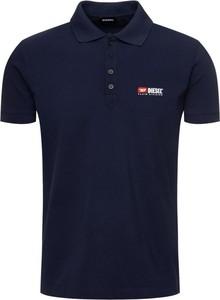 Granatowa koszulka polo Diesel z krótkim rękawem