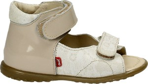 Buty dziecięce letnie EMEL na rzepy z nubuku