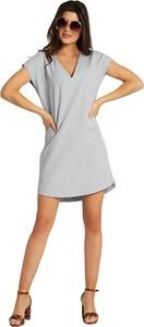 Sukienka Ivon z krótkim rękawem z dekoltem w kształcie litery v mini