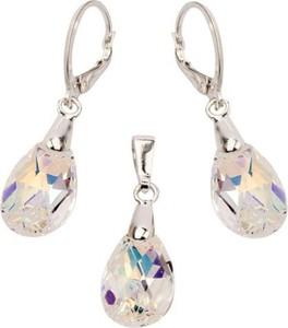 Polcarat Design Srebrny Komplet Swarovski KPL 1636 : Kolor - Crystal AB