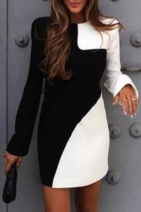 Czarna sukienka IVET w stylu casual