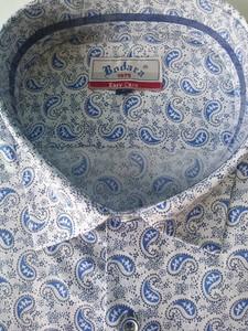 Koszula Bodara z klasycznym kołnierzykiem z tkaniny z długim rękawem
