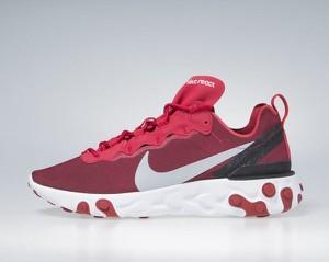 Sneakers Buty Nike React Element 55 gym red / wolf grey-white-black (BQ6166-601)