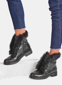 Czarne botki DeeZee w stylu casual