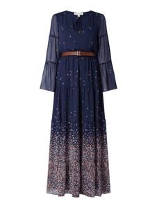 Granatowa sukienka Michael Kors z długim rękawem