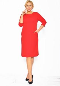 Sukienka Sukienki M&M prosta midi z okrągłym dekoltem
