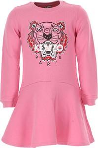 Różowa sukienka dziewczęca kenzo kids