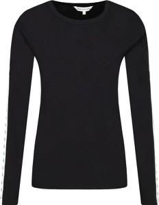 Bluzka Calvin Klein z okrągłym dekoltem z długim rękawem