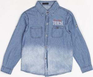 Niebieska koszula born2be z jeansu