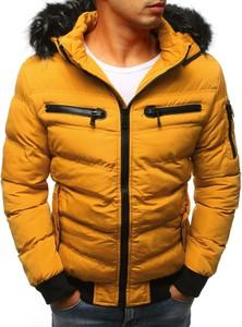 Żółta kurtka Dstreet w stylu casual