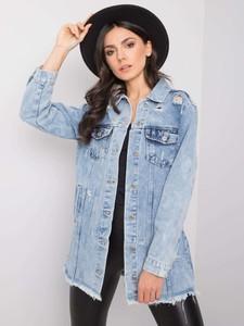 Niebieska kurtka Promese krótka z jeansu