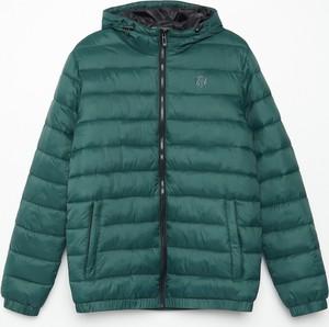 Zielona kurtka Cropp krótka w stylu casual