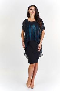 Sukienka Fokus z krótkim rękawem midi z tkaniny