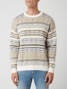 Sweter Review w młodzieżowym stylu z bawełny z okrągłym dekoltem