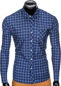 Niebieska koszula Ombre Clothing z długim rękawem w stylu casual