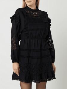 Czarna sukienka Object z okrągłym dekoltem