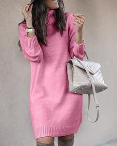Sukienka Kendallme z golfem z długim rękawem mini