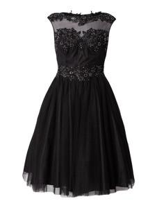 Czarna sukienka Niente z okrągłym dekoltem bez rękawów