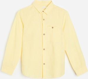 Żółta koszula dziecięca Reserved z bawełny dla chłopców