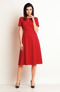 Czerwona sukienka Infinite You midi