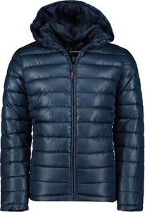 Niebieska kurtka Geographical Norway w stylu casual krótka