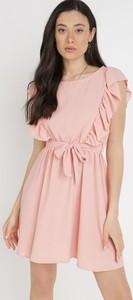 Sukienka born2be z okrągłym dekoltem mini