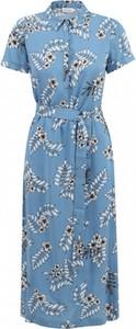 Niebieska sukienka Premiera Dona koszulowa