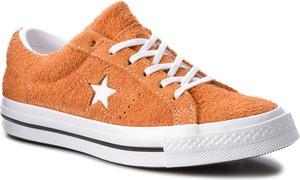 Pomarańczowe trampki Converse niskie