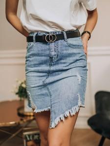 Spódnica Promese mini w stylu casual z jeansu