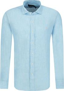 Niebieska koszula POLO RALPH LAUREN z klasycznym kołnierzykiem