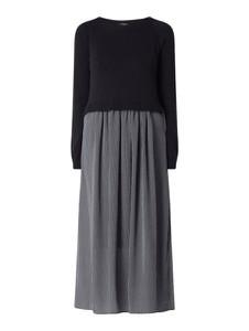 Granatowa sukienka Weekend Max Mara w stylu casual z okrągłym dekoltem maxi