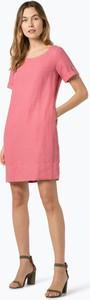 Różowa sukienka 0039 Italy z krótkim rękawem