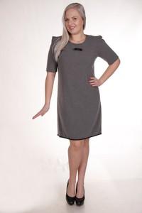 Sukienka Fokus midi z krótkim rękawem trapezowa