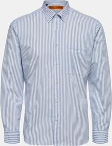 Niebieska koszula Selected Homme z długim rękawem w stylu casual