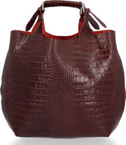 Czerwona torebka VITTORIA GOTTI duża z tłoczeniem