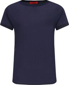 Bluzka Max & Co. z krótkim rękawem w stylu casual z jedwabiu