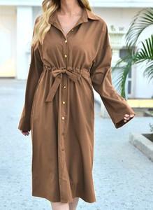Sukienka Cikelly koszulowa w stylu casual