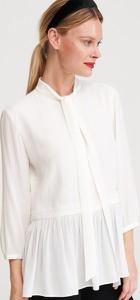 Bluzka Reserved ze sznurowanym dekoltem z długim rękawem