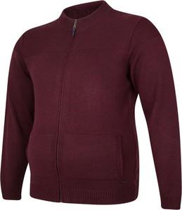 Czerwony sweter Bigsize w stylu casual