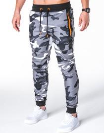 Spodnie sportowe ombre clothing z dresówki w street stylu