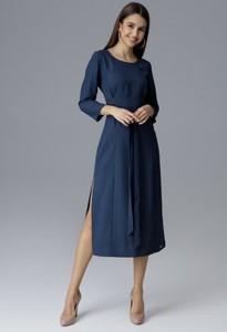 Granatowa sukienka Figl