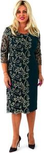 Sukienka Roxana midi z okrągłym dekoltem