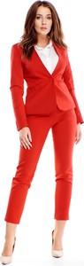 Czerwona marynarka Ptakmoda.com na guziki krótka