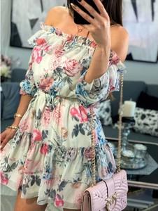 Sukienka Smlfashion.pl mini z szyfonu hiszpanka