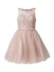 Różowa sukienka Laona mini bez rękawów