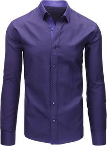 Granatowa koszula dstreet z bawełny z długim rękawem