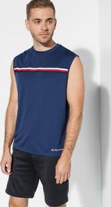 Niebieski t-shirt Tommy Hilfiger bez rękawów