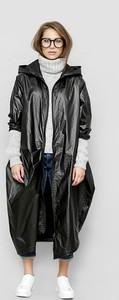 Czarna kurtka Freeshion w stylu casual z tkaniny